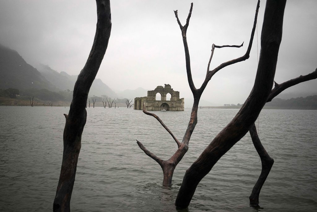 Abandoned Mexican Church Revealed After a Reservoir Drought