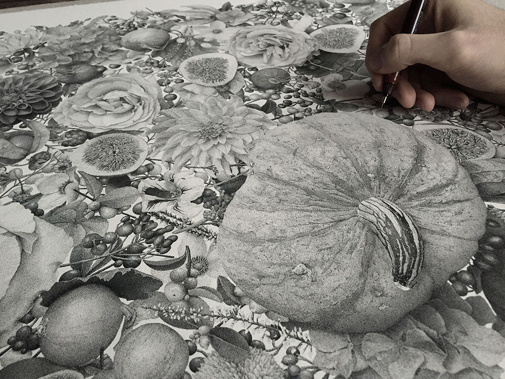 Millions of Tiny Dots Comprise This Illustration