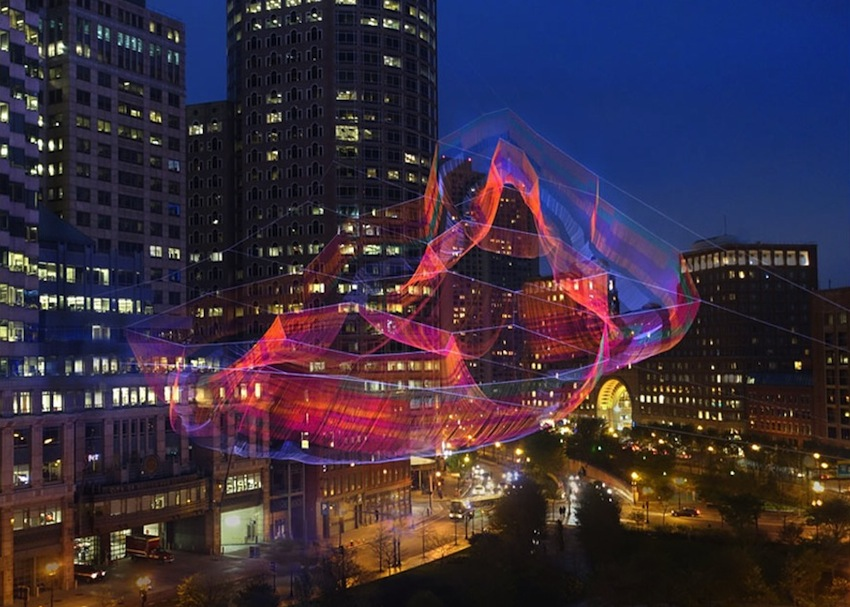 Twine Installation above Boston